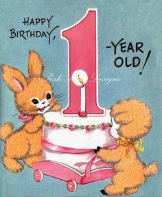 The Little Lamb 1st Birthday Vintage Digital by poshtottydesignz