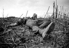 Please forgive me if this photo offends you. Notify me; I will remove. It is posted to show the anguish of the Vietnam War; the horrors our troops, 18 and 19 year olds... were exposed to...only to be rejected; mocked by an ungrateful nation when they returned. A dead Marine, Battle for Hill 881. Photo by CATHERINE LEROY (1944 - 2006). she shot some of most brutal photographs to come out of the country. (Captured by NVA during Tet Offensive.) posted from the Khe Sanh Veterans Assn.