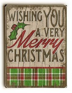 Very Merry Christmas Wood Sign