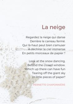 french poem winter and snow French Language Lessons, French Language Learning, Learn A New Language, French Lessons, German Language, Spanish Lessons, Japanese Language, Spanish Language, French Poems