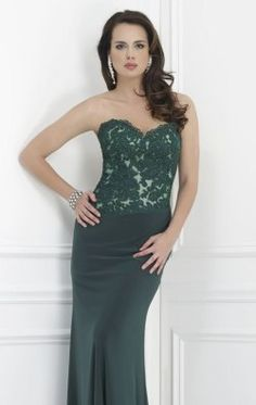 Lace jersey Evening Gown by Morrell Maxie 14626