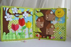 seasons quiet book toddler quiet book felt book by WondefulKids... Would be fun to do front/back before/after pages...