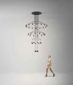 21st Century Chandeliers The Wireflow Pendant Lamp By Arik Levy For Vibia