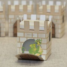 Castle Box - Printable PDF available http://www.partyideasuk.co.uk/library/party-themes/castle-party-ideas/castle-box.aspx