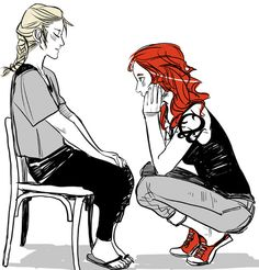 a scene from City of Heavenly Fire! Clary with little 12-year-old Emma.