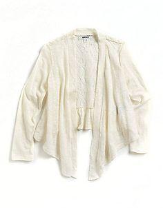 7186a2785b DKNY - Girl s Bernadette Lace-Back Cardigan