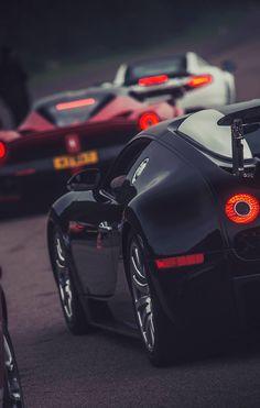 Bugatti Veyron Grand Sport, Ferrari LaFerrari and McLaren MP4-12C