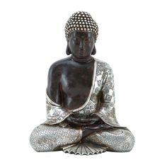 Resting Polystone Buddha Sculpture