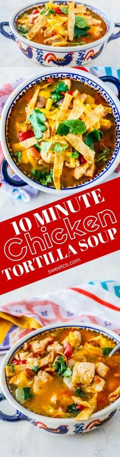 """10 Minute Chicken Tortilla Soup in an Instant Pot, Crock Pot, or on the Stovetop – this is so delicious, simple, and crazy easy! We've had a brutal round of the flu this year – I don't know what it is, but it has been absolutely brutal lately! Anytime I am sick, there is … Continue reading """"10 Minute Chicken Tortilla Soup (Instant Pot, Stovetop, or Slow Cooker)"""""""