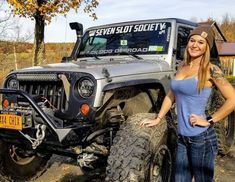 Women who love Jeeps make up a unique subculture within the culture of Jeep enthusiasts that are part of a larger group or culture of enthusiasts. These women are like-minded, embrace new people and Trucks And Girls, Car Girls, Big Trucks, Girl Car, Jeep Wrangler Girl, Jeep Wrangler Unlimited, Jeep 4x4, Jeep Truck, Jeep Baby