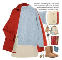 """""""merry christmas"""" by jesuisunlapin ❤ liked on Polyvore featuring Victoria Classics, Karen Walker, Theory, MANGO, UGG Australia, Chantecaille, Carven and vintage"""