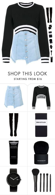 """""""Varsity"""" by genesis129 ❤ liked on Polyvore featuring Nasty Gal, Versus, Christian Louboutin, Whistles, Givenchy, Alessi and Witchery"""