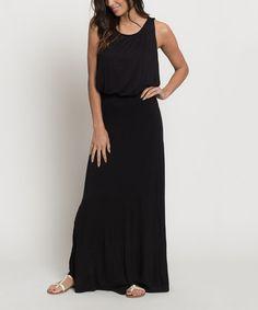 Look at this #zulilyfind! Black Blouson Maxi Dress #zulilyfinds