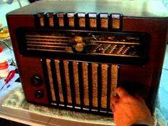 """Marconi M 49 (1948) """"Antique radio"""", """"Tube radio"""""""