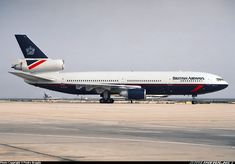 "British Airways McDonnell Douglas DC-10-30 G-DCIO ""Epping Forest"" at Faro-International, March 1994. (Photo: Pedro Aragão)"
