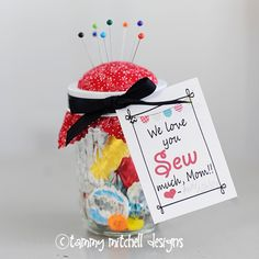 Mother's day gift idea and free printable tag for the crafty women in your life...there is a grandma version too!