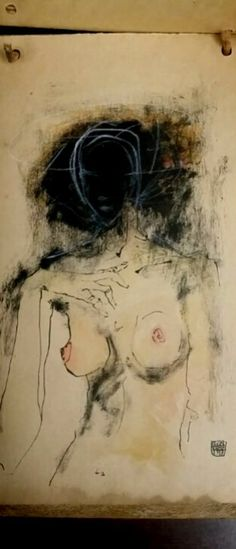 Semi-abstract figurative woman painting by Austrian artist Egon Schiele. The artist was a protege of legendary Gustav Klimt. Schiele is known for figurative nude art & portraits. Gustav Klimt, Life Drawing, Figure Drawing, Painting & Drawing, Woman Painting, Art Moderne, Art Graphique, Erotic Art, Figurative Art