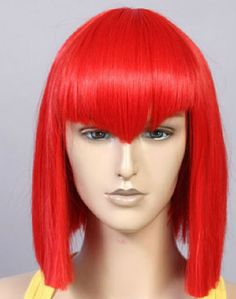 Black Butler / Kuroshitsuji Madam Red short straight wig  pre cut bangs  bright red Cosplay Wig, ready to ship by wigglywigs. Explore more products on http://wigglywigs.etsy.com