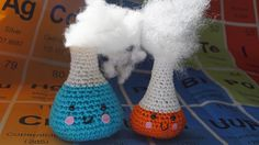 crochet erlenmeyer bottle #stem #science #crochet
