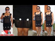 COMO HACER UNA FALDA ELEGANTE TEJIDA A CROCHET PASO A PASO - YouTube. Crochet Skirt. Also has video for matching top.