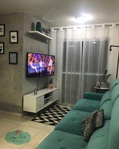 Living Room Sofa Design, Small Living Rooms, Bedroom Wall Colors, Home Decor Bedroom, Home Design Plans, Home Interior Design, Studio Apartment Design, First Apartment Decorating, Loft House