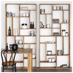 Ethnicraft - M Rack Teak - reol Bookshelf Design, Bookcase Shelves, Wall Shelves, Cool Bookshelves, Bookcases, Shelving Decor, Custom Shelving, Shelving Design, Bookshelf Ideas