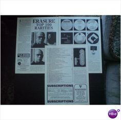 Erasure - Top 100 Rarities 3 page feature Record Collector magazine