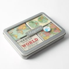 Vintage Maps Magnet Set by Cavallini & Co. Price $17.95
