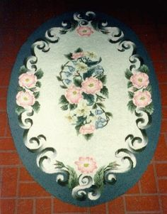 Oval Hooked Rug By Jane Olson