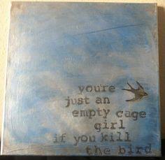 Tori Amos Lyric/Quote Acrylic Painting on by FierceFlawlessDesign, $25.00