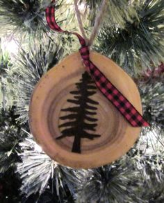 Hey, I found this really awesome Etsy listing at https://www.etsy.com/listing/475383015/rusted-tin-tree-wood-slice-ornament