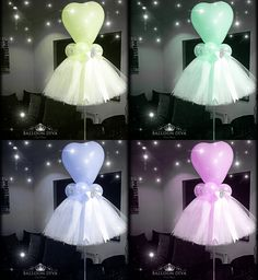 42 Trendy Ideas For Baby Shower Party Decorations Tulle Balloons Tulle Centerpiece, Balloon Centerpieces, Balloon Decorations, Birthday Decorations, Baby Shower Decorations, Ballerina Party Decorations, Parties Decorations, Masquerade Centerpieces, Balloon Ideas