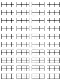 Tens frames for math journals