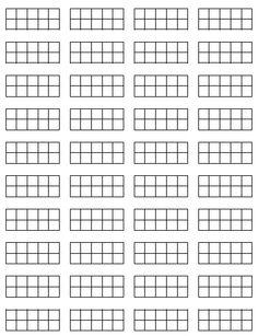 tens frames for math journals