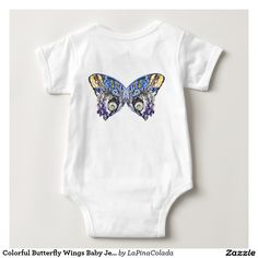Colorful Butterfly Wings Baby Jersey Bodysuit