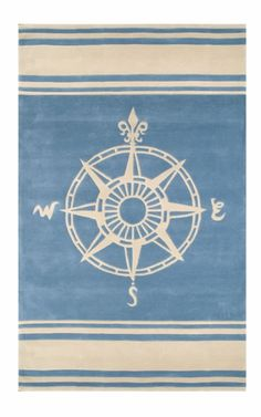 Complete your child's nautical nursery or bedroom with the Classic Compass Rug in Teal from Nejad Rugs. Featuring a coastal theme, this rug is the perfect addition to any room Nautical Rugs, Nautical Nursery, Nautical Home, Nautical Bath, Nautical Compass, Coastal Style, Coastal Decor, Coastal Living, Coastal Rugs