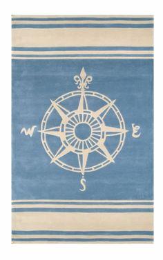Lovely little compass rose rug