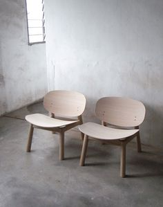 Nathan Yong; 'Pringles' Lounge Chairs for Folks Furniture, 2010s.
