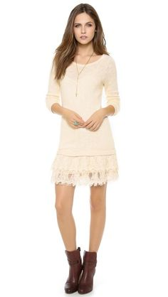 I NEED THIS DRESS!!  Nightcap Clothing Peek-A-Boo Sweater Dress