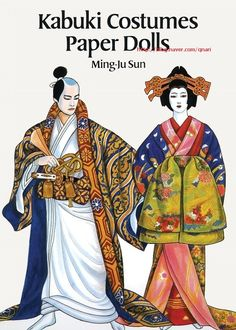 Kabuki Costumes Paper Dolls by Ming-Ju Sun - Paperback - First Edition. - 1995 - from Shamrock Books (SKU: New Year's Crafts, Arts And Crafts, Paper Crafts, Diy Crafts, Japanese Paper, Japanese Kimono, Kabuki Costume, Japanese Warrior, Body Art Photography