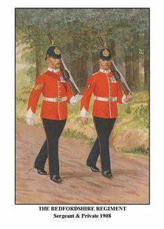 British; Bedfordshire Regt. Sergeant & Private by J McNeill