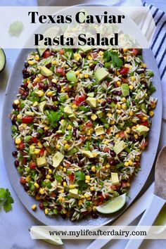 Get ready for your summer bbqs, potlucks, and picnics with this easy vegan Texas Caviar Pasta Salad. Made with fresh vegetables, beans, and a flavorful dressing this easy pasta salad is the perfect side dish for all your summer gatherings. Eating Vegetables, Fresh Vegetables, Best Pasta Salad, Yummy Pasta Recipes, Healthy Grains, Oven Baked Chicken, Summer Dishes, Dairy Free Recipes, Vegan Recipes