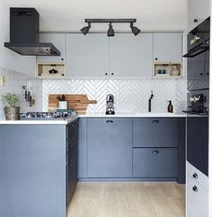 Open kitchen and living room - Alternative to a monochrome kitchen – Open kitchen and living room Modern Kitchen Cabinets, Ikea Kitchen, Home Decor Kitchen, Interior Design Kitchen, Kitchen Dining, Interior Modern, Kitchen Ideas, Kitchen Cabinets Color Combination, Kitchen Cabinet Colors