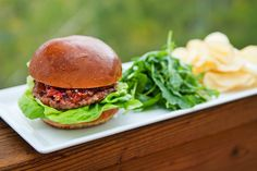 Lamb Burger by Use Real Butter Lamb Burger Recipes, Lamb Recipes, Diner Menu, Lamb Burgers, Good Burger, Wrap Recipes, Convenience Food, Lunches And Dinners, Recipe Using