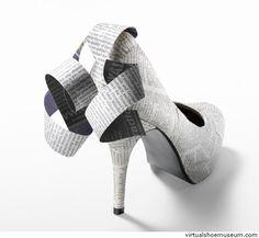 Paper pump | virtualshoemuseum.com