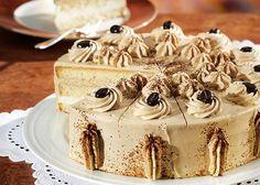 Mokka-Sahne-Torte mit Whisky