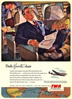 Traveling in a Suit: 1951 TWA Advertisement