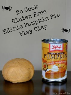 Ever wonder what to do with the leftover pumpkin from your baking?  Now we have an answer - No-cook Gluten-Free Edible Pumpkie Pie Play Clay.  It smells just like pumpkin pie but feels like a fun clay!  From Fun at Home with Kids