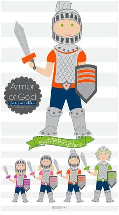 Put on the Armor of God Printable, family home evening lesson idea
