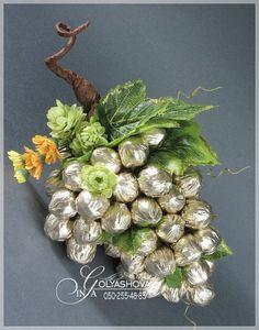 Gallery.ru / Фото #32 - Разное - nekto1 Candy Flowers, Tissue Flowers, Diy Wedding Flowers, Diy Flowers, Diy Gift Box, Diy Gifts, Vegetable Bouquet, Pumpkin Vase, Edible Bouquets